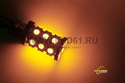 Указатель поворота 3157 24 светодиода оранжевый
