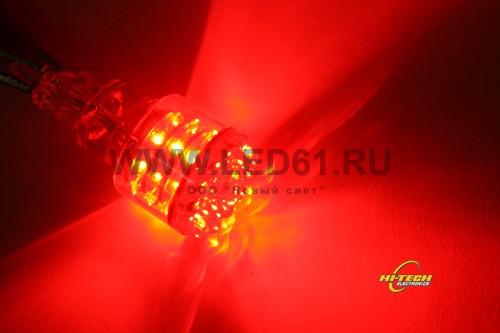 Светодиодная лампа 39 LED красная