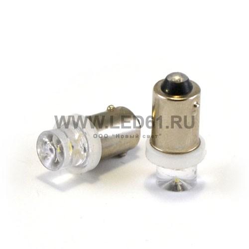 Светодиодная автомобильная лампа BA9s 1 DIP белая