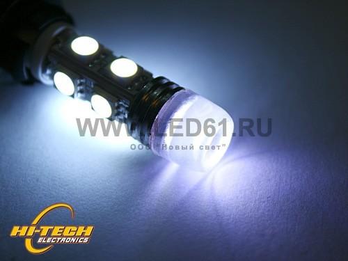 Светодиодная лампа T10 (W5W) белая 9 SMD 5050