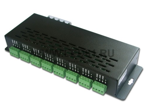 Светодиодный DMX декодер, 12-24В, 3А на канал, 24 канала