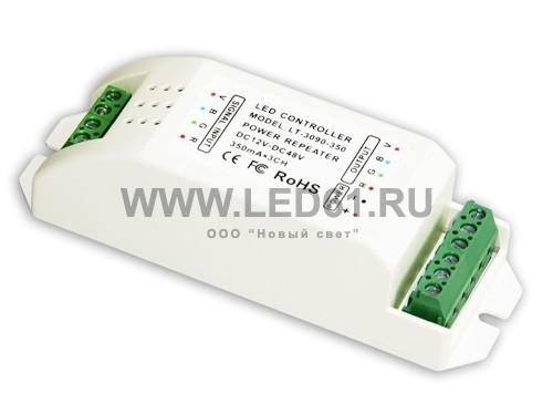 Репитер мощности постоянного тока 12-48В, 3 канала 350мА