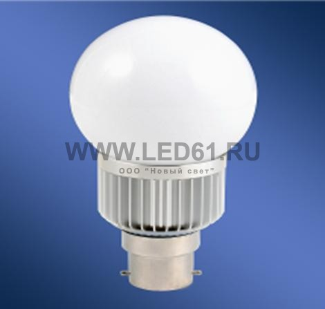 Светодиодная лампа B22 3Вт чистый белый