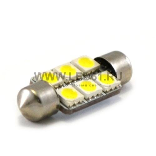 Светодиодная автомобильная лампа SV8.5 (C5W) 6 SMD 5050 36мм