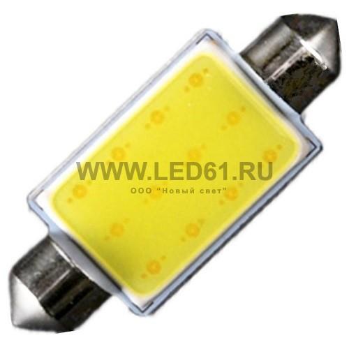 Светодиодная автомобильная лампа SV8.5 (C5W) 1HP COB 42мм
