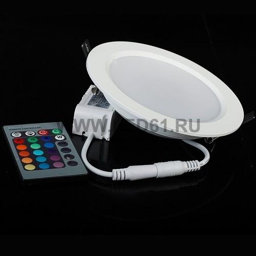 Светодиодный встраиваемый светильник RGB 10Вт