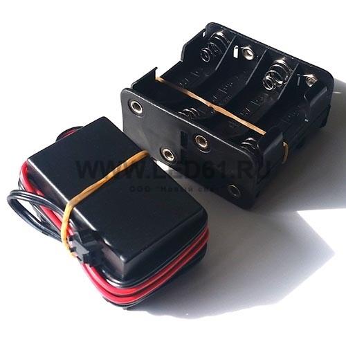 Инвертор с аккумуляторным блоком DC12V 8xAA 1-10м