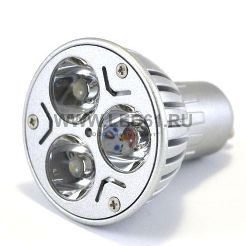 Точечная светодиодная лампа GU10 3x1 Вт