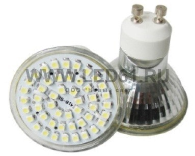 Точечная светодиодная лампа GU10 3Вт SMD3528
