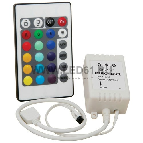 Контроллер для светодиодной ленты RGB, 3 канала, 12В, 6А, 24кн.