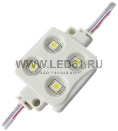 Светодиодный модуль для рекламы, 4 светодиода, синий