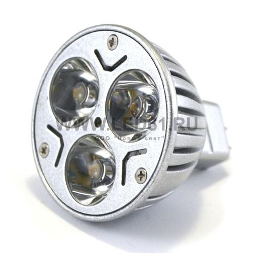Точечная светодиодная лампа MR16 3x1 Вт 12В