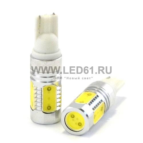 Светодиодная автомобильная лампа T10 (W5W) белая 7.5Вт