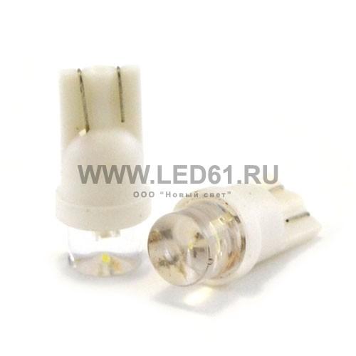 Светодиодная автомобильная лампа T10 (194, W5W) 1 DIP белая