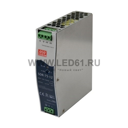 Блок питания Mean Well SDR-75-24