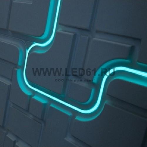 Неоновая подсветка гипсовых 3D стеновых панелей